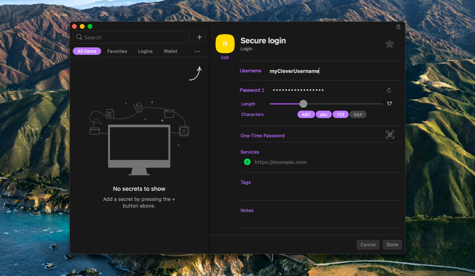 password manager for mac secrets