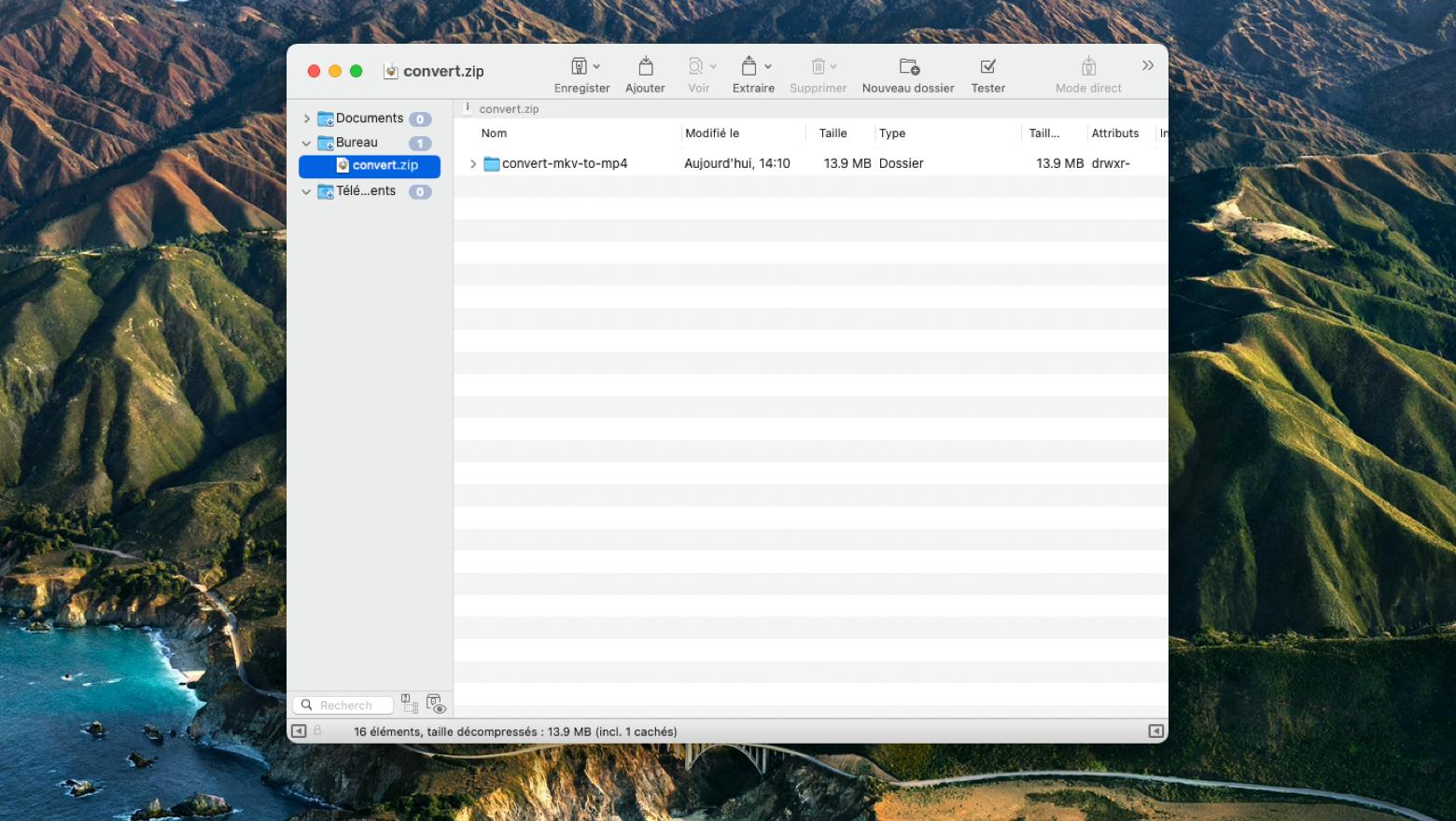 Réenregistrer le fichier ou dossier compressé