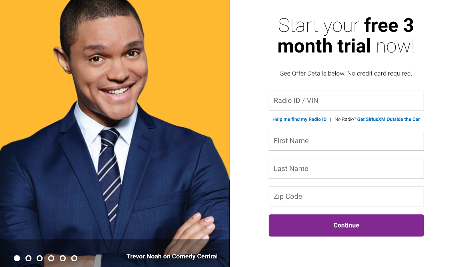 3-month SiriusXM free trial