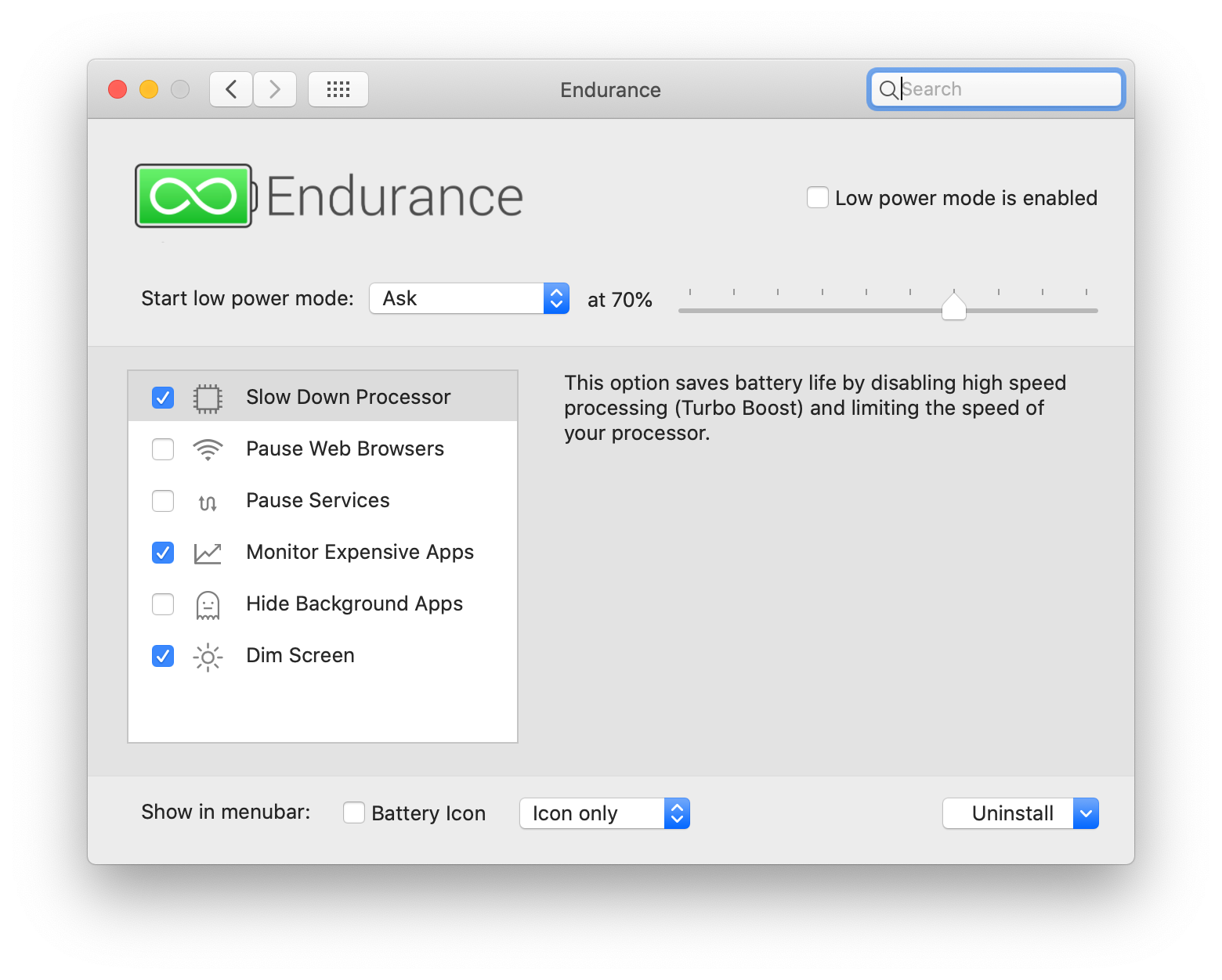Prolongue a bateria do Mac com o Endurance