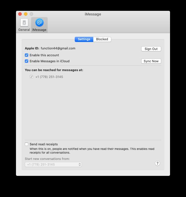 enable iMessage iCloud Mac