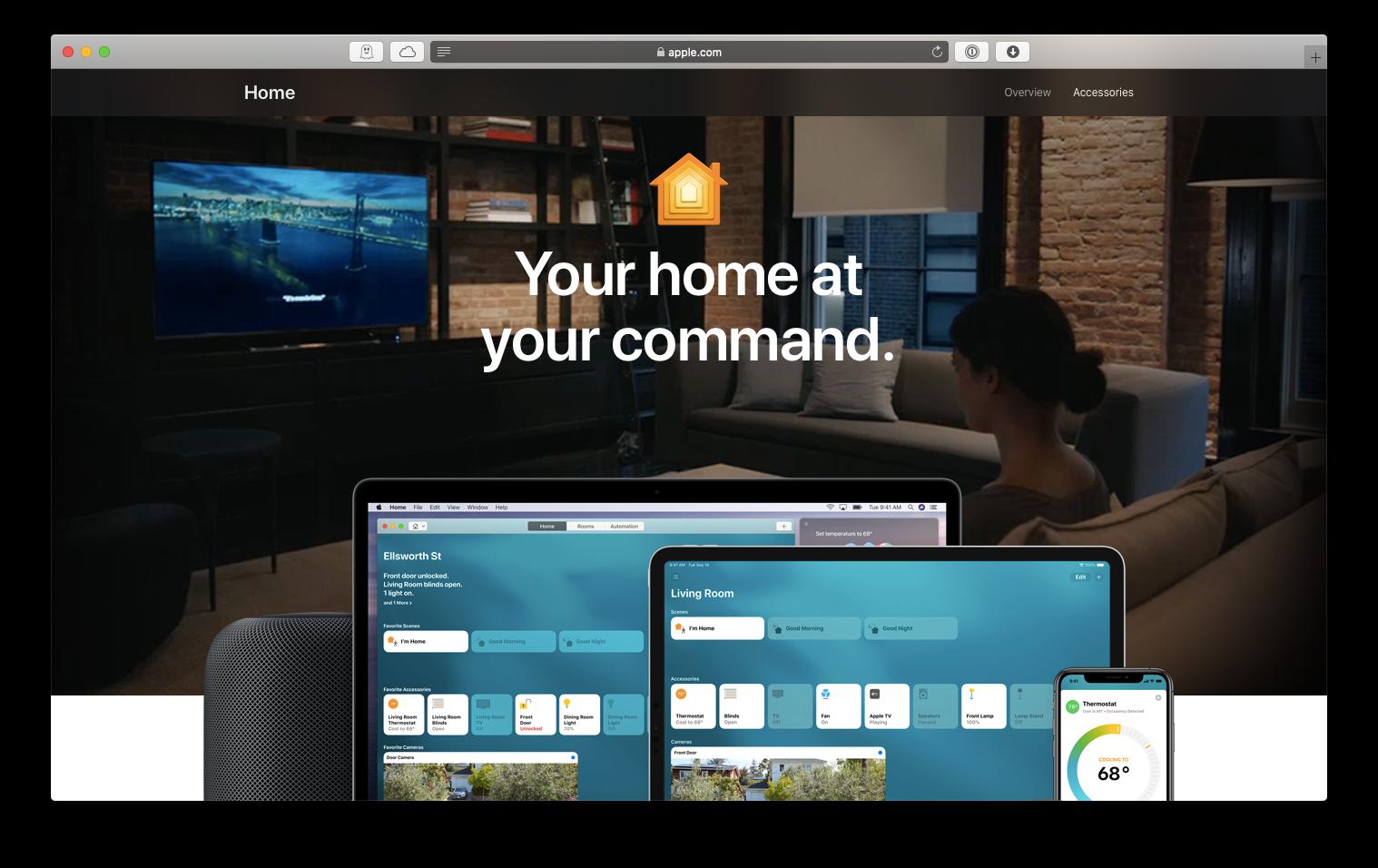 Apple home HomeKit app Mac