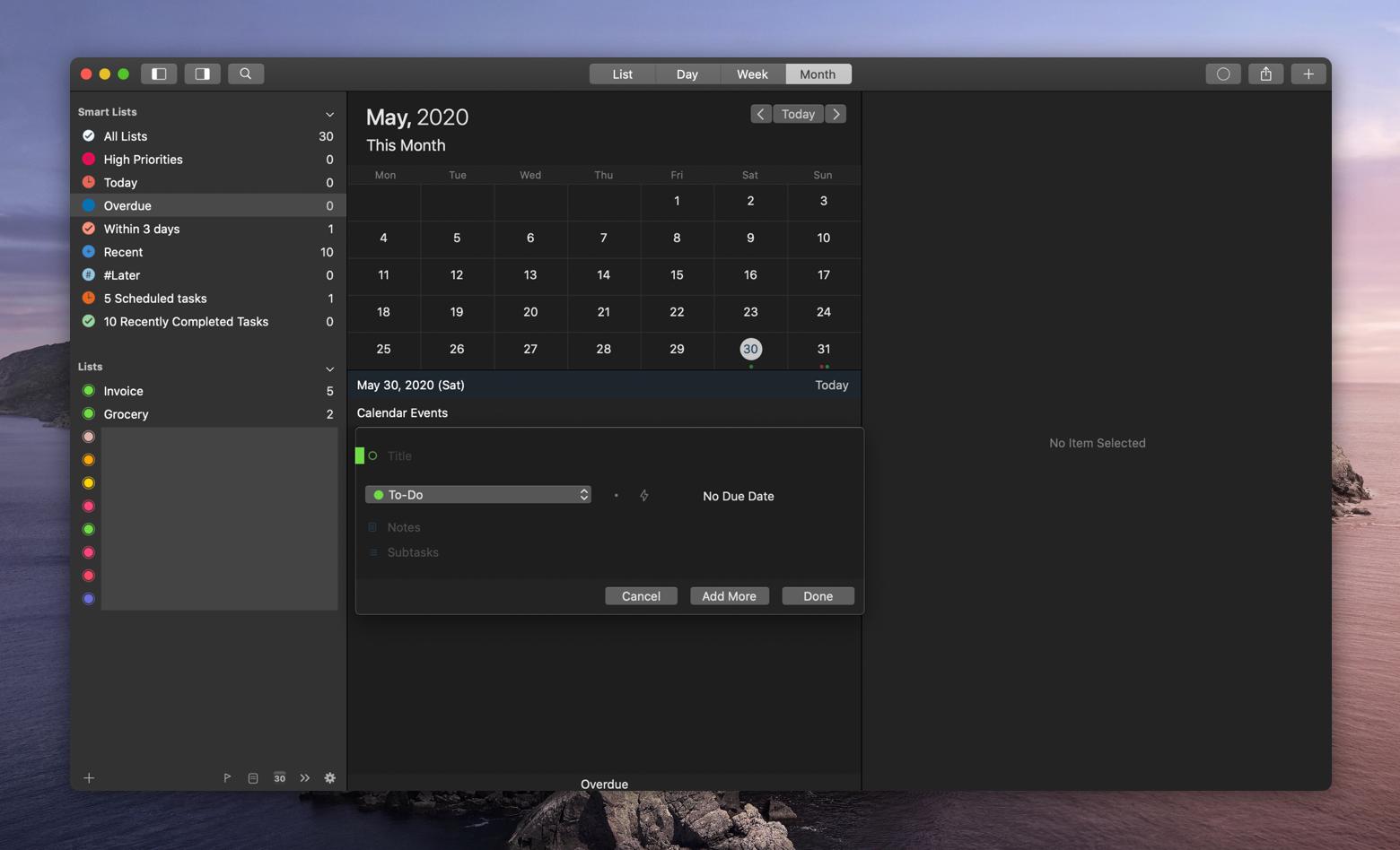 GoodTask app for Mac