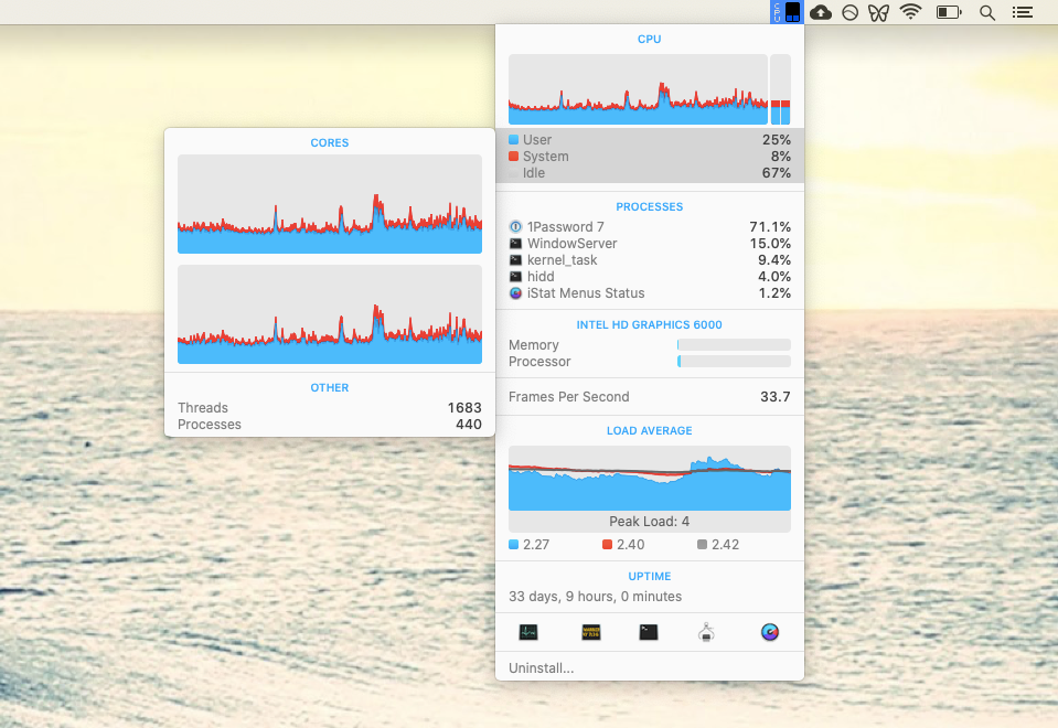 iStat Menus monitor Mac app