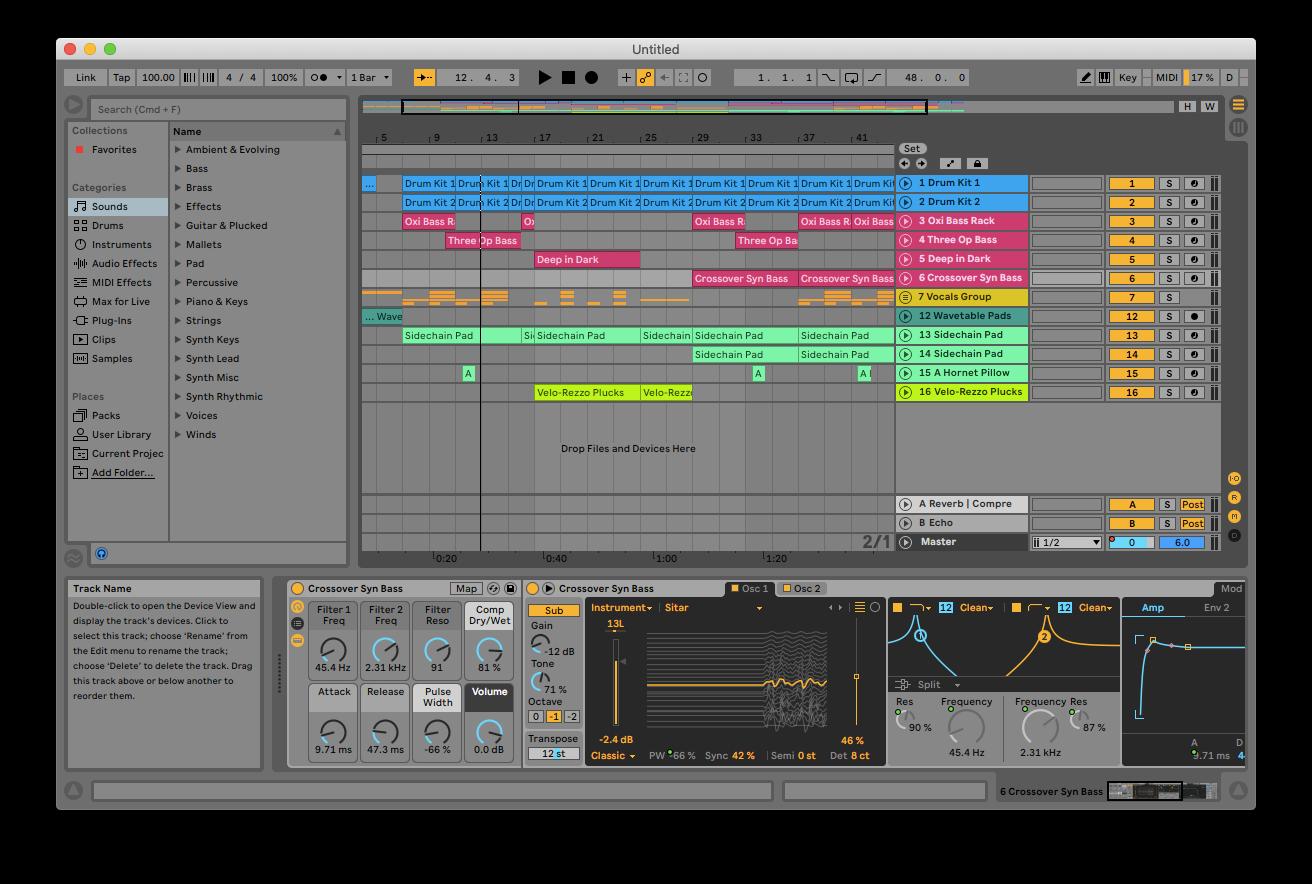 Ableton Mac music making software