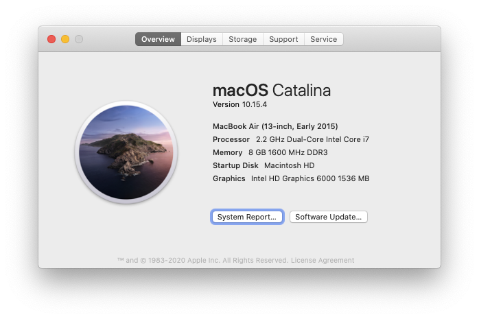 about this Mac macOS system serial number