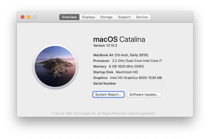 About This Mac serial number Apple