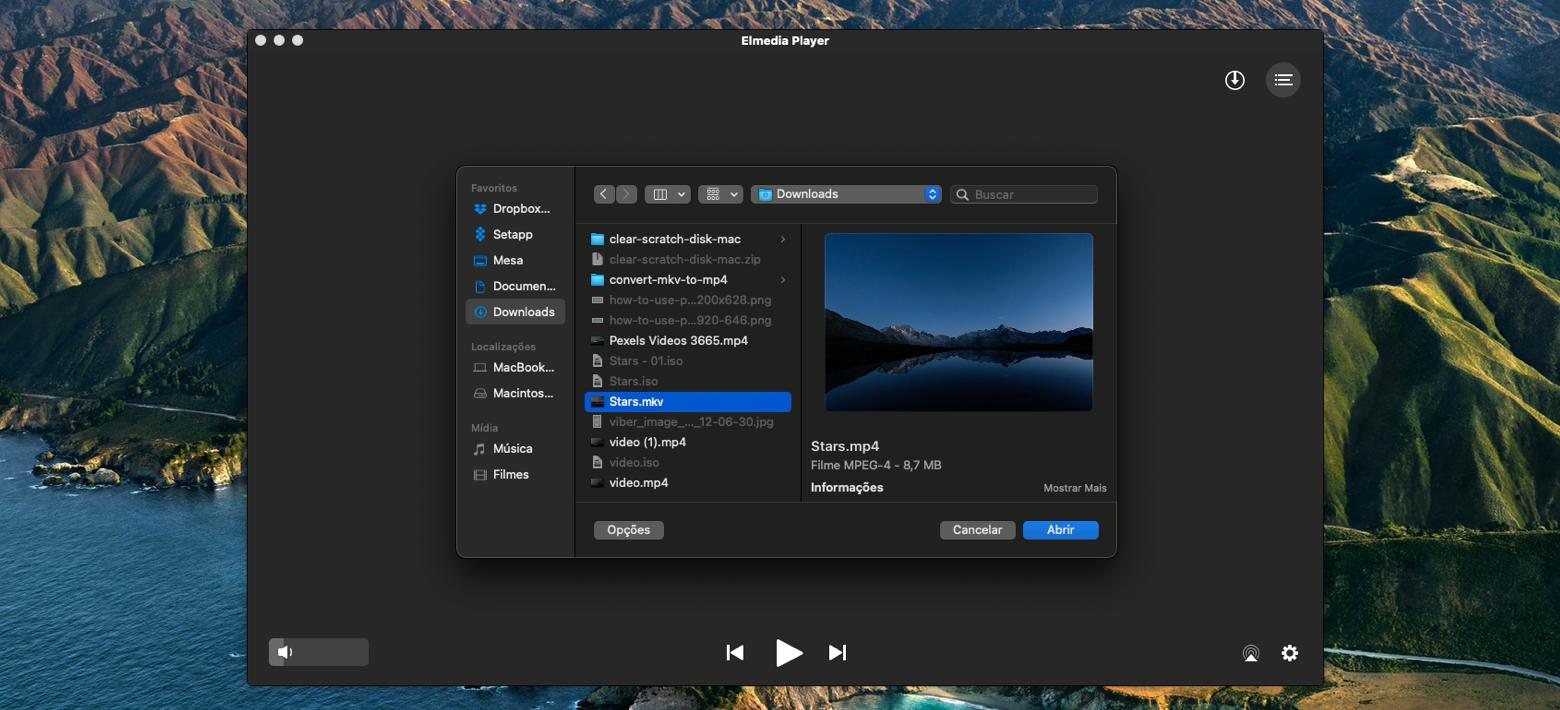 Abra arquivos MKV com o Elmedia Player