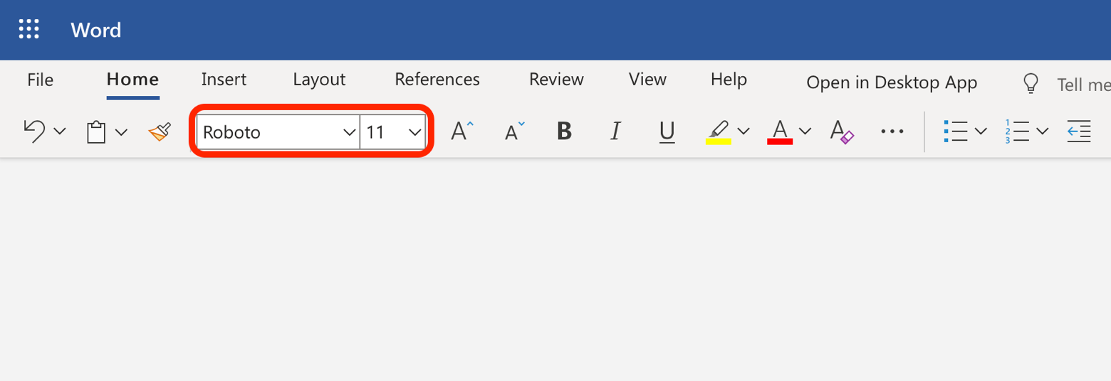 add fonts Word online office365