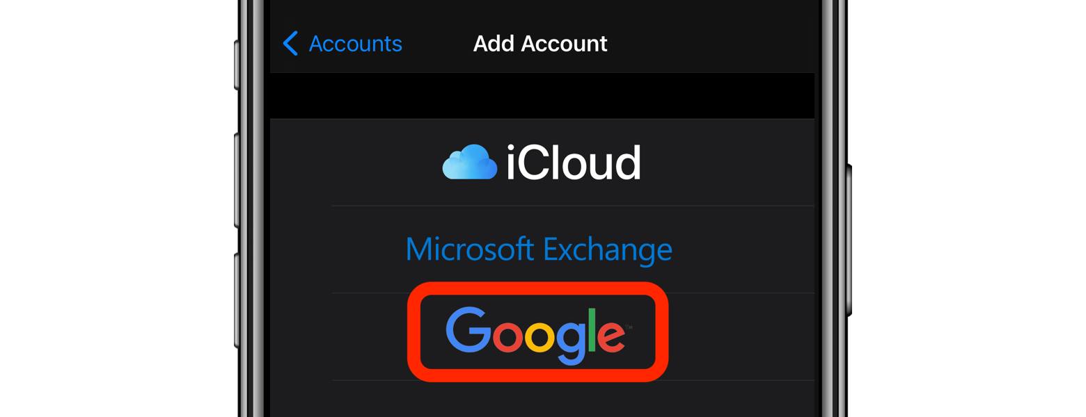 add google account ios