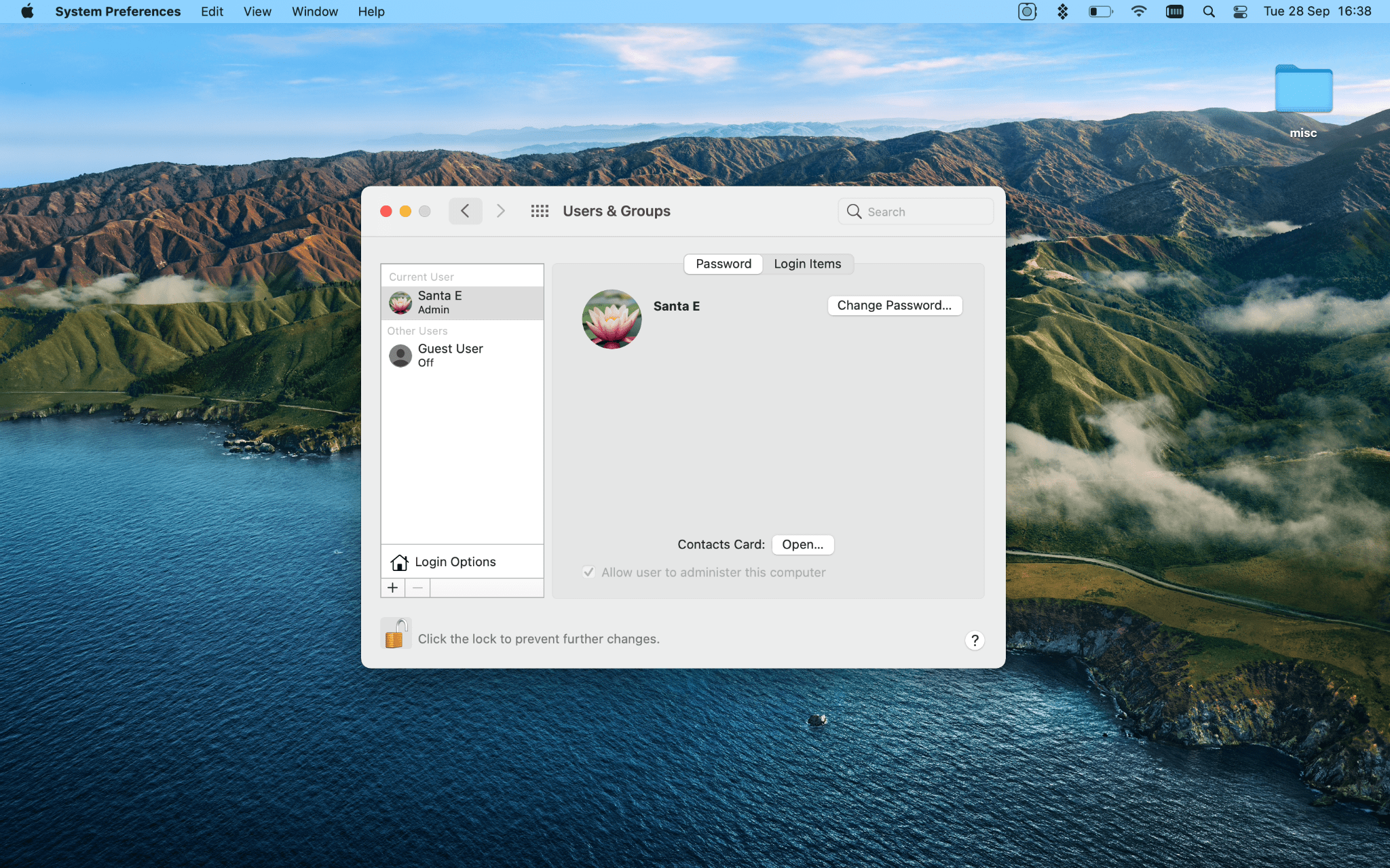 add new user mac