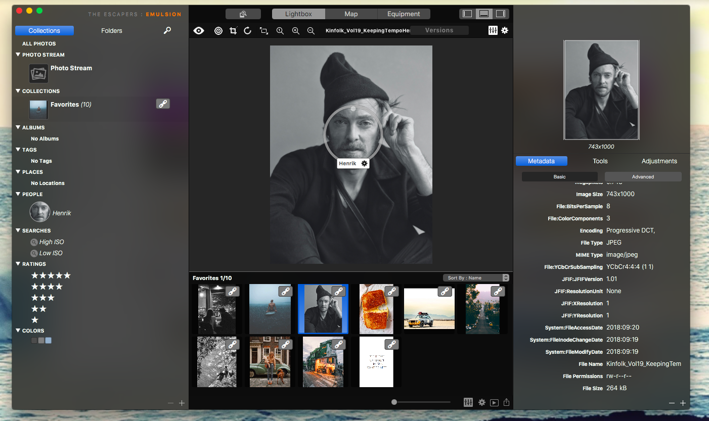 Emulsion photo manager