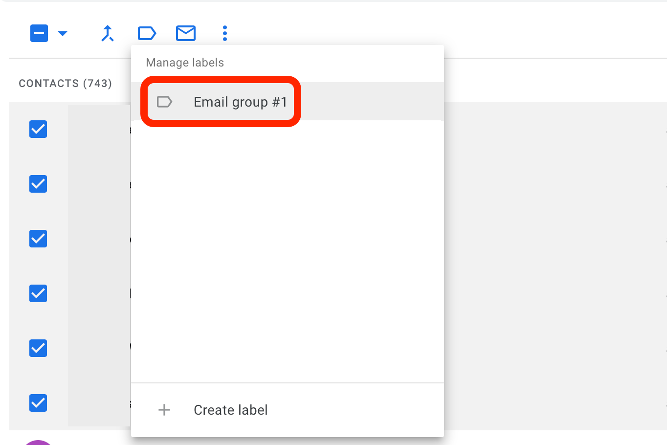 add to group email