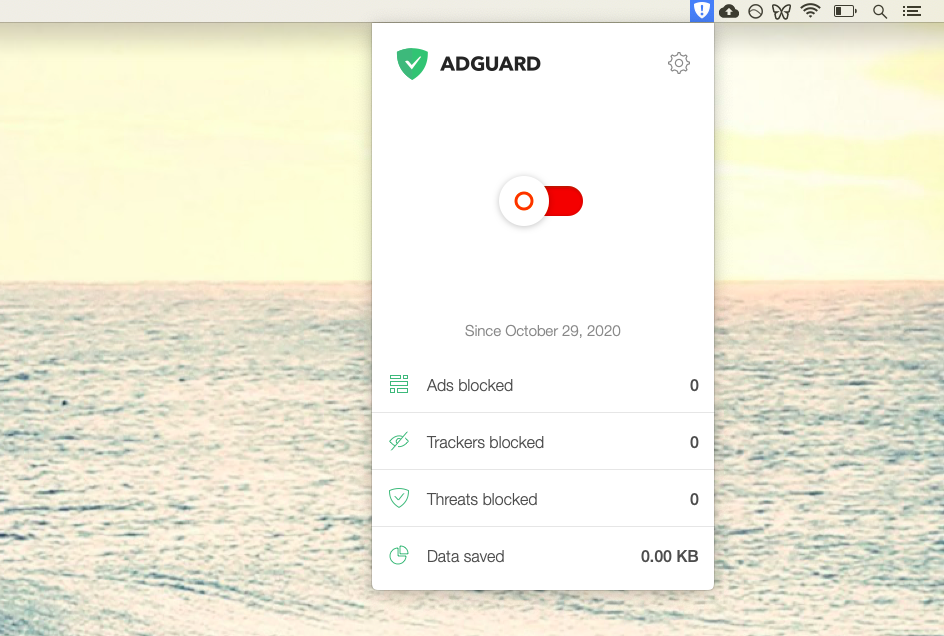AdGuard blocks any trackers from the websites you visit