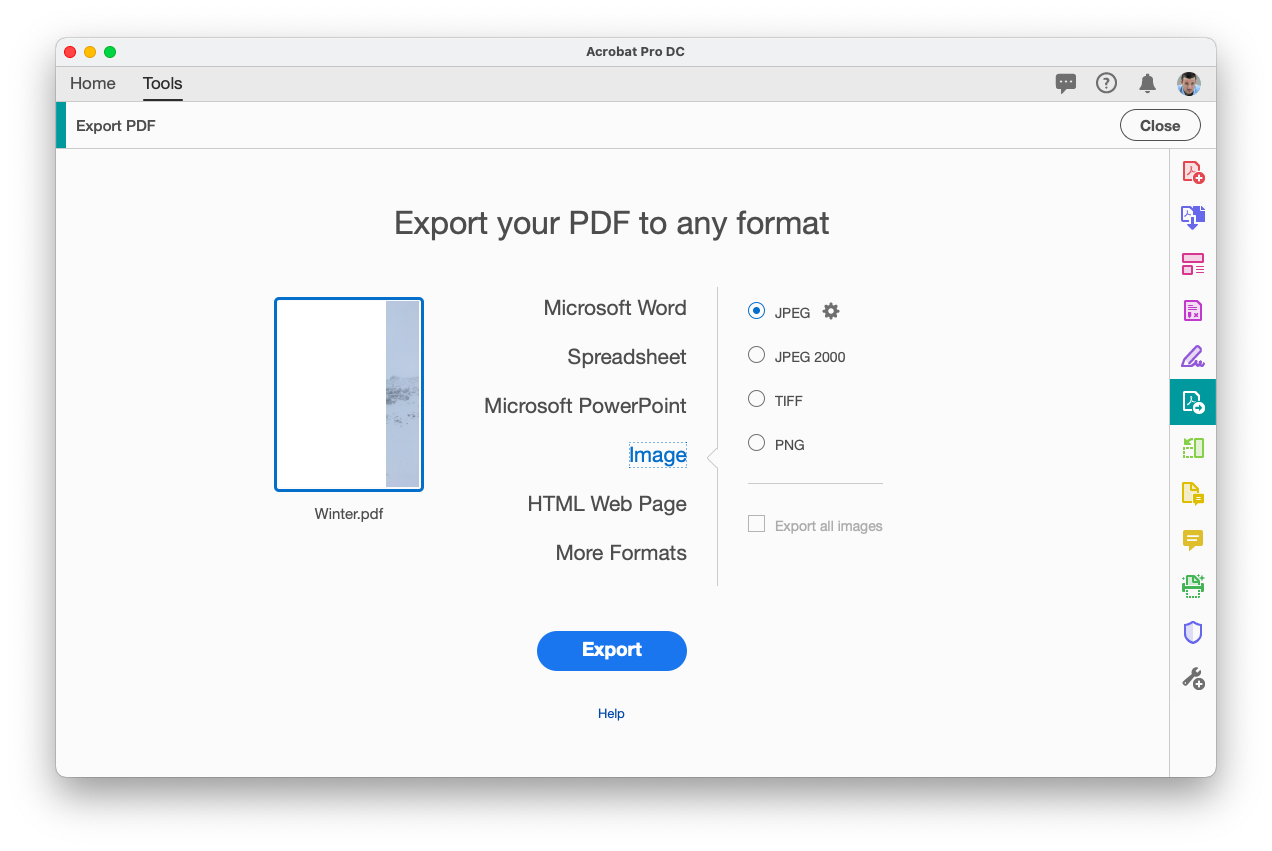 extract images from PDF with Adobe Acrobat Pro