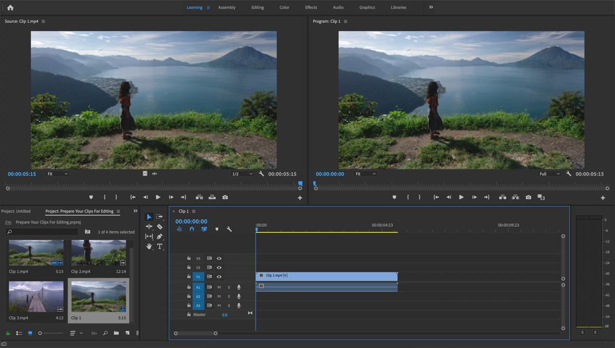 Video editing in Adobe Premiere