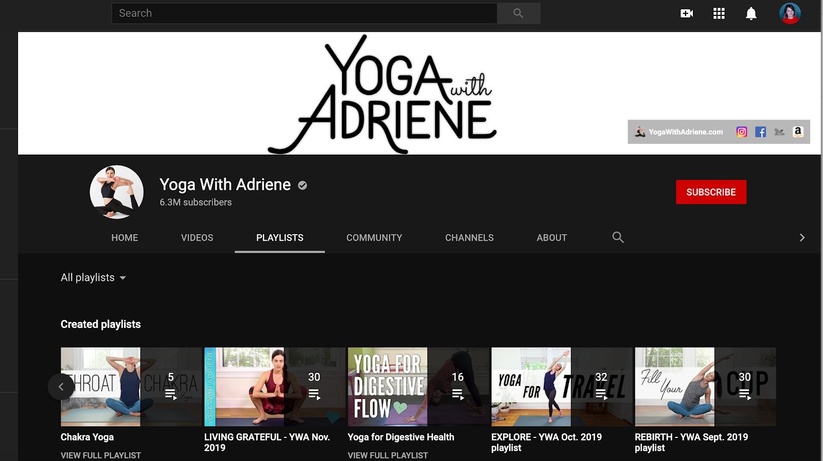 Adriene yoga classes