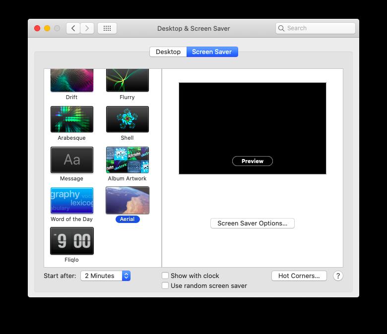 Apple TV screensaver for Mac