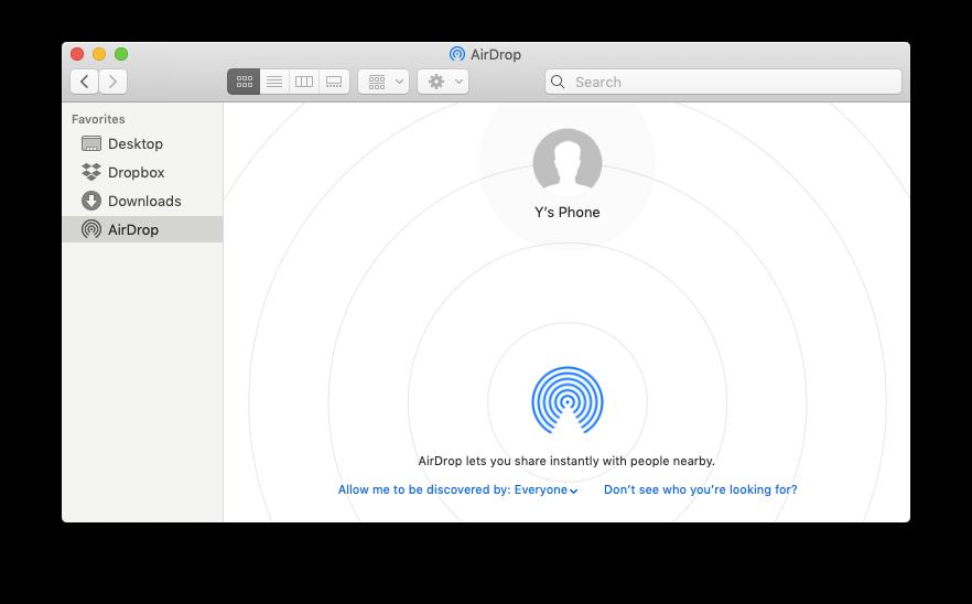 airdrop mac share iPhone photos