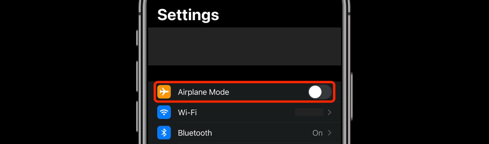 airplane mode iphone