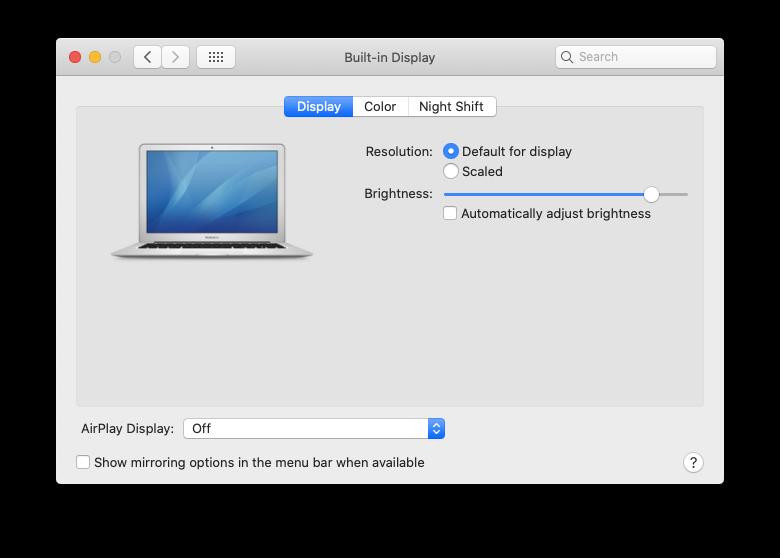 airplay mac tv display