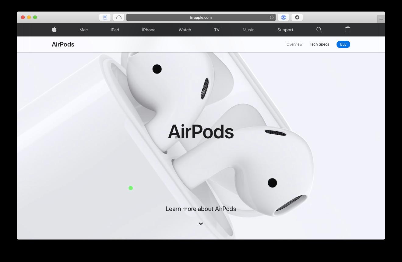AirPods 2 headphones Mac