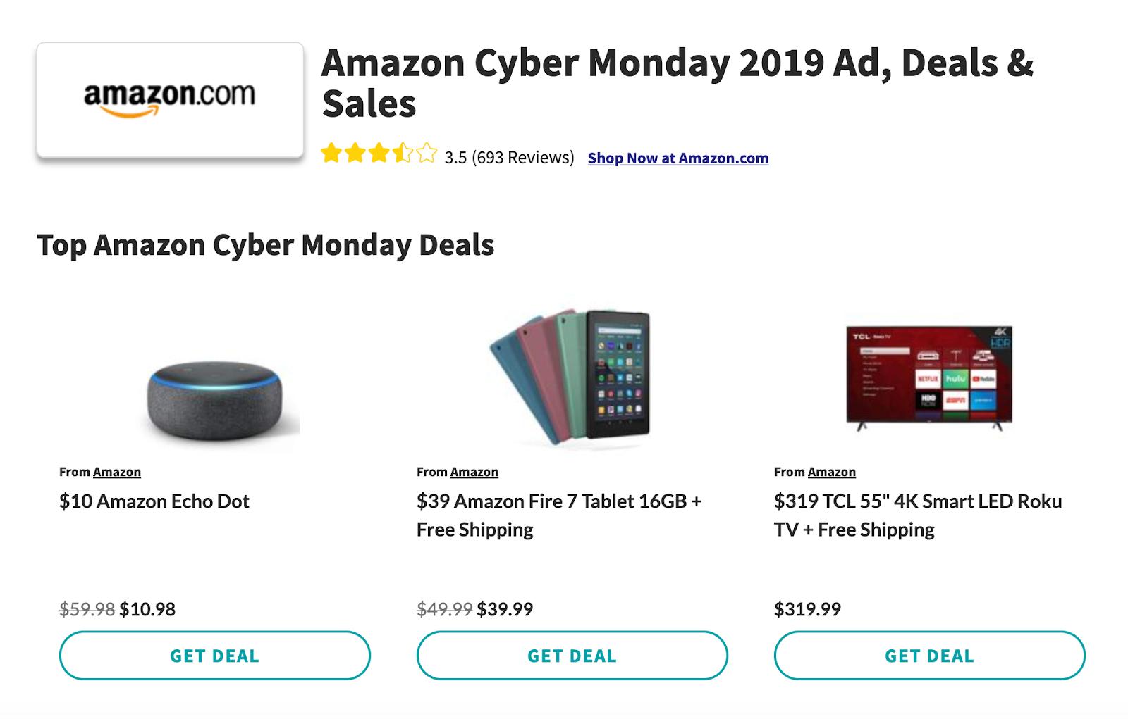 Amazon Cyber Monday deals 2019