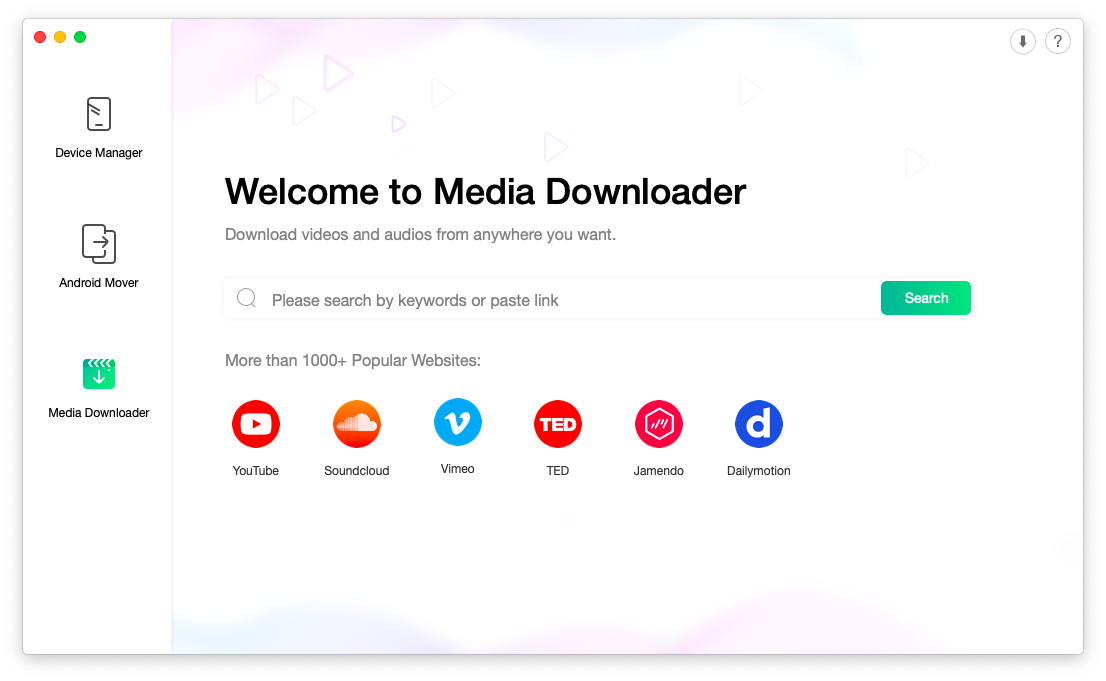 YouTube media downloader for Android