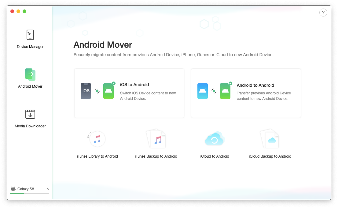 AnyTrans Android sync