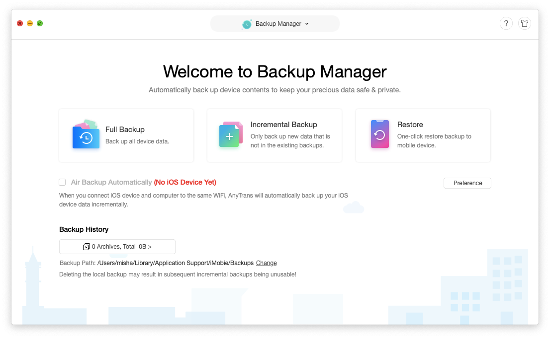 Anytrans backup iTunes on mac