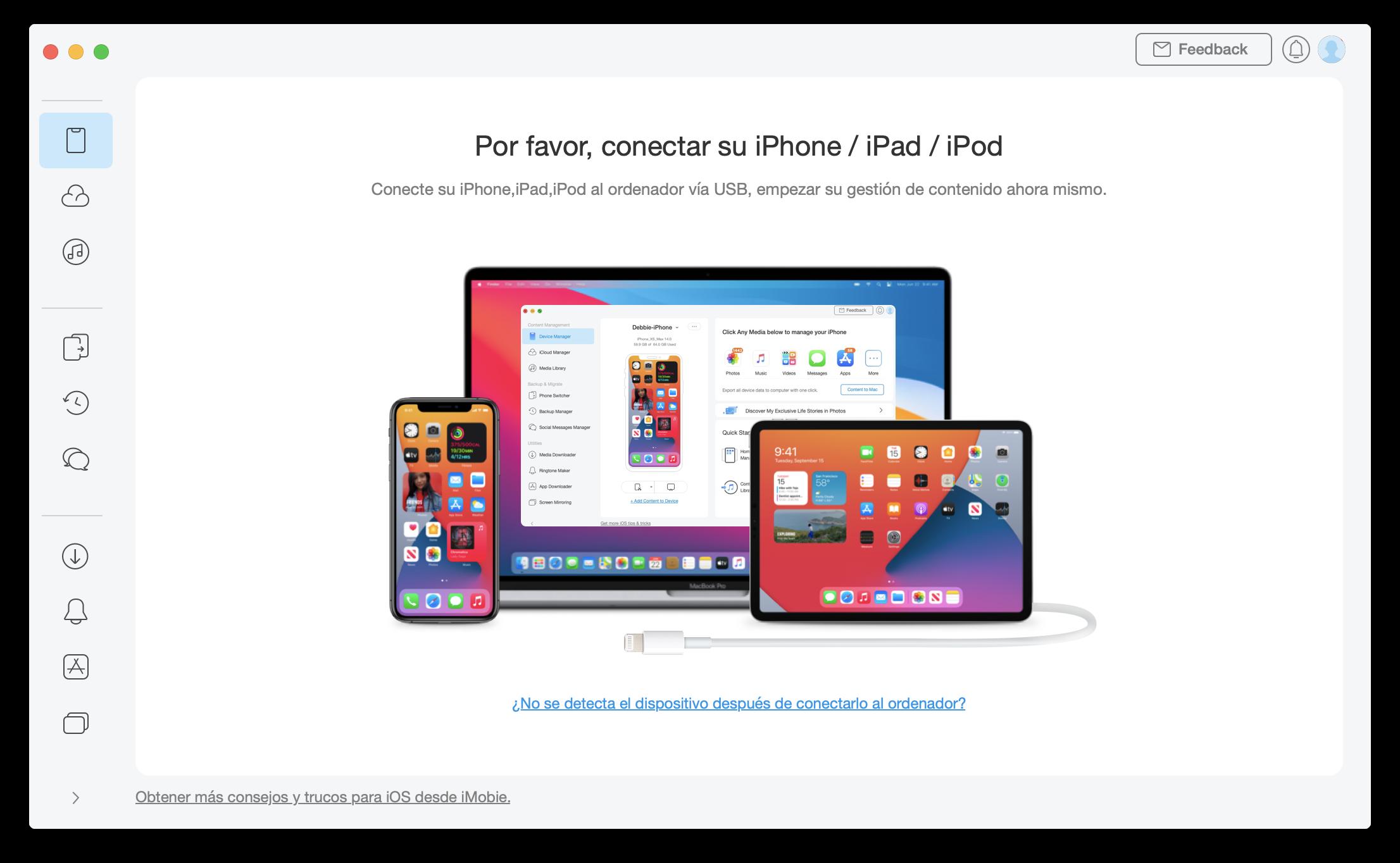 Conecte su iPhone / iPad / iPod