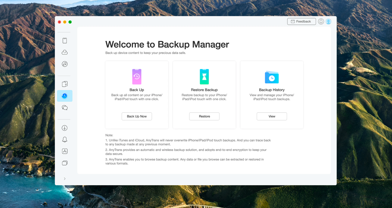 anytrans for ios iphone backup
