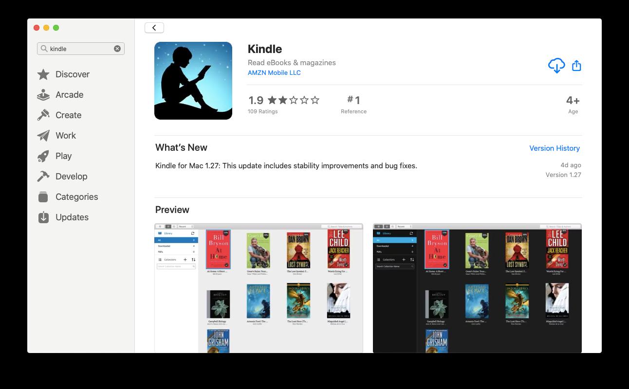 App Store Kindle Mac download