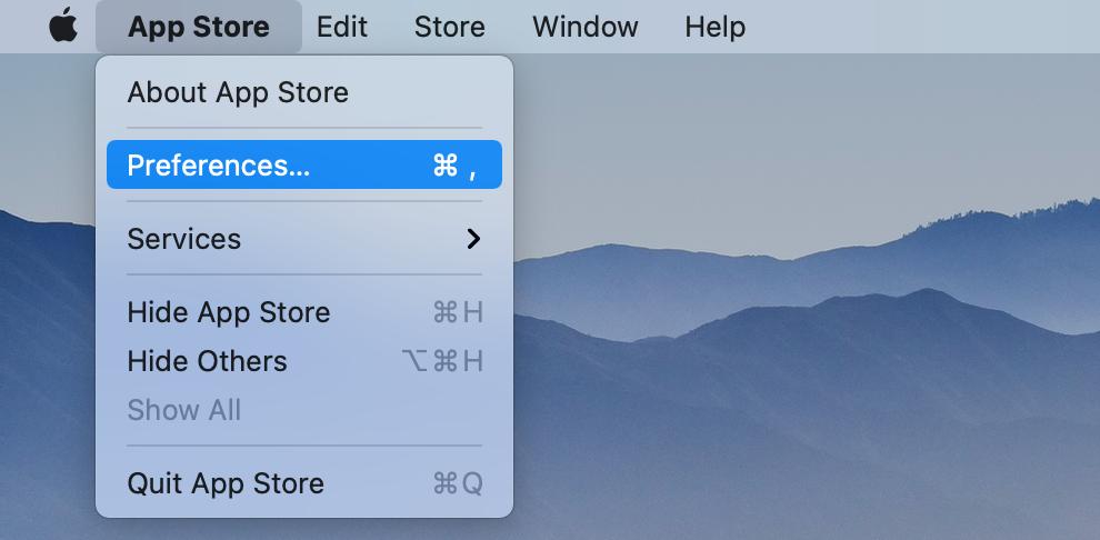 App Store > Preferences