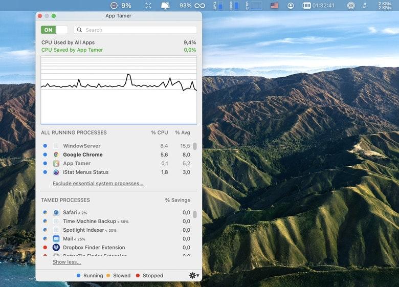 App Tamer CPU monitor