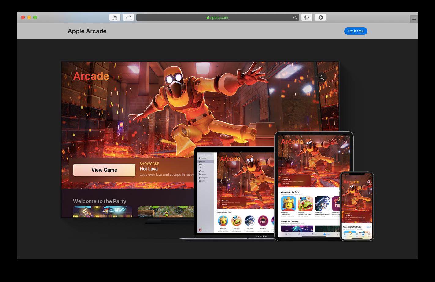 Apple Arcade games subscription