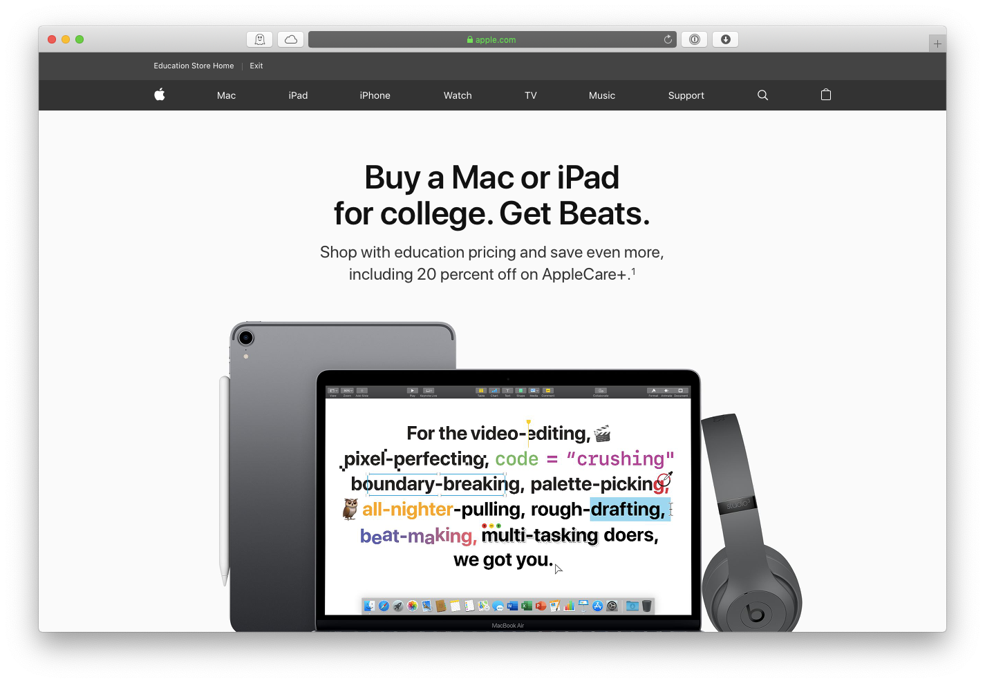 Apple discount store education
