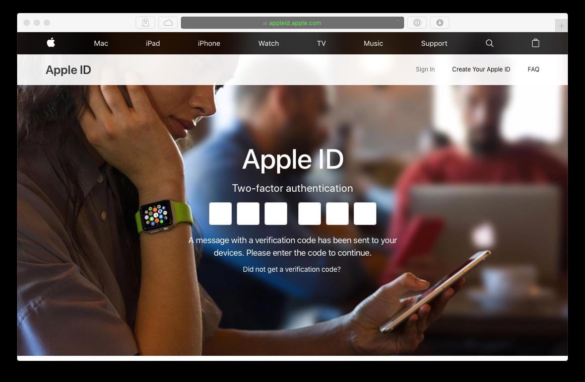 apple ID 2fa login