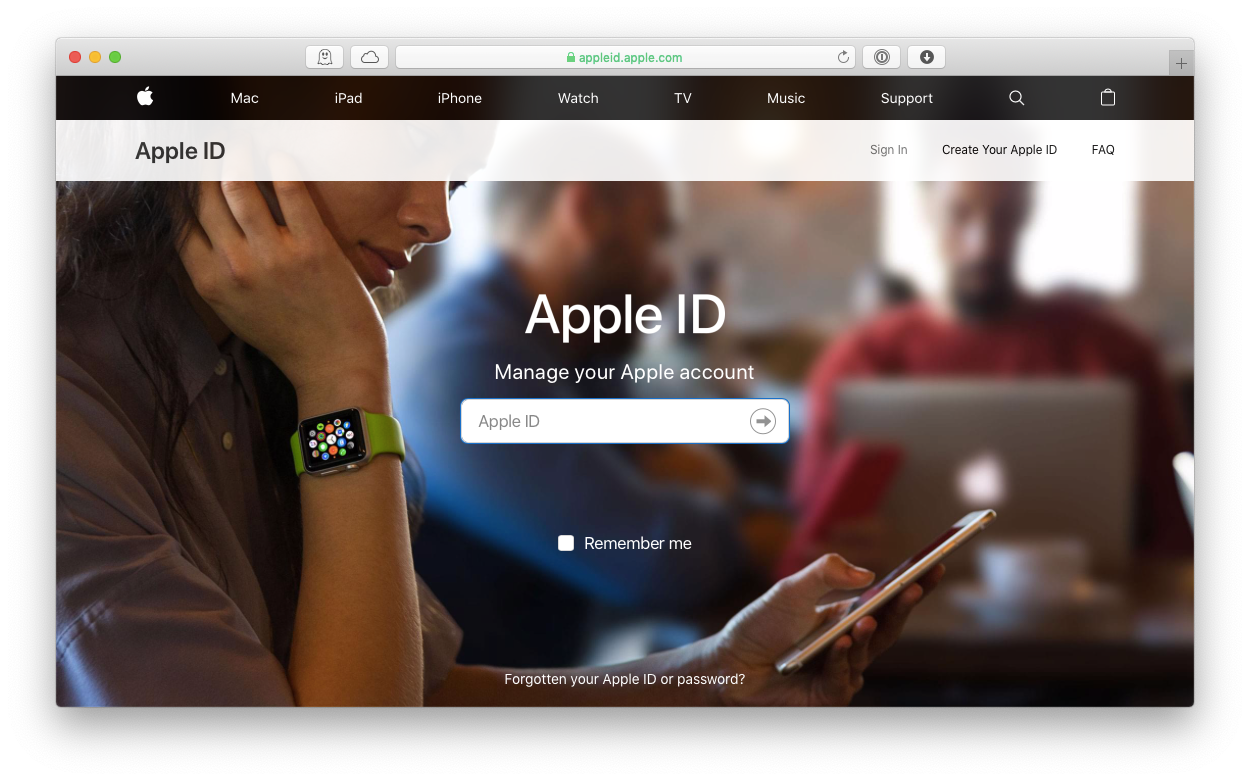 create apple id website