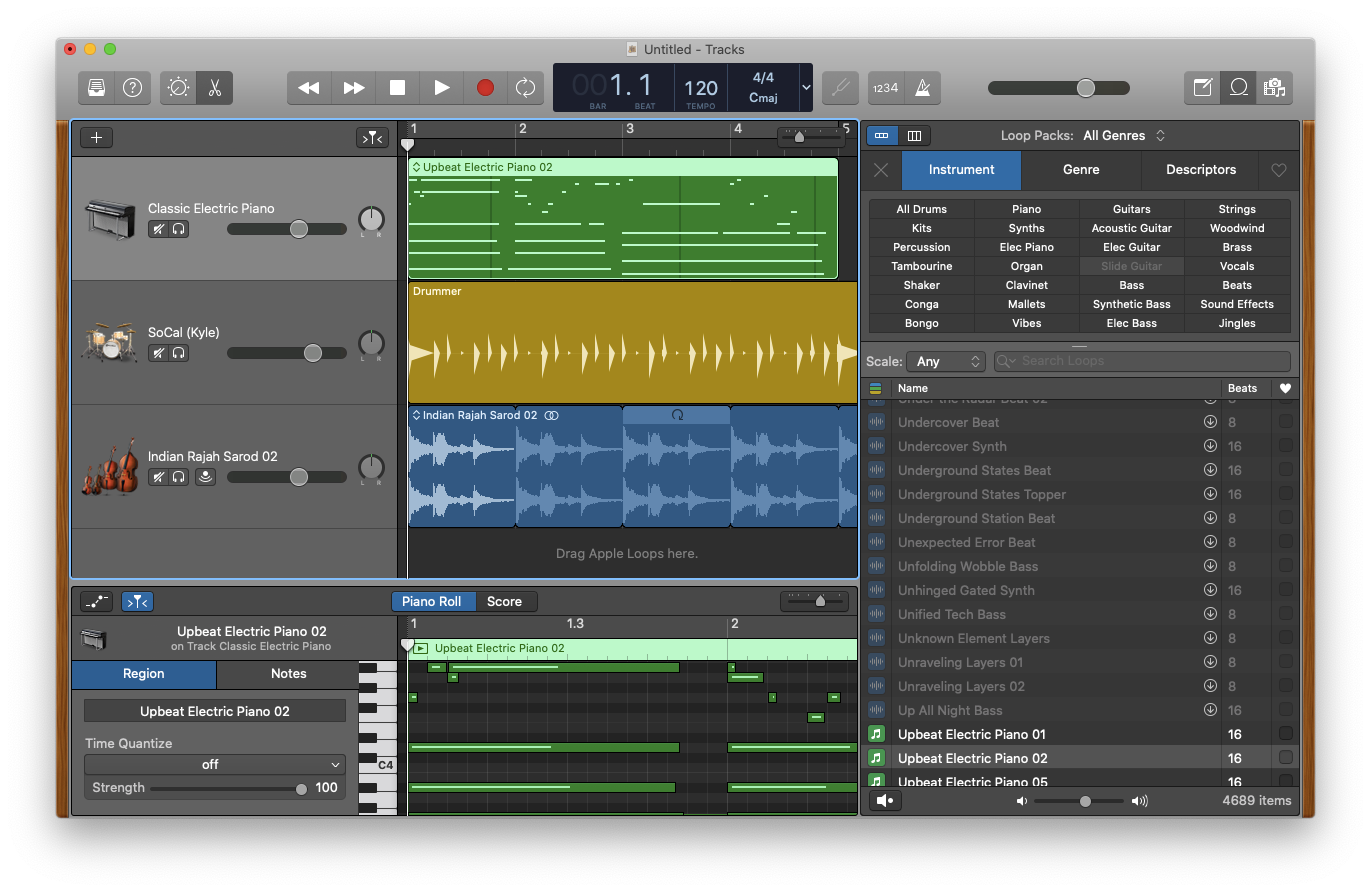 Apple loops Mac GarageBand