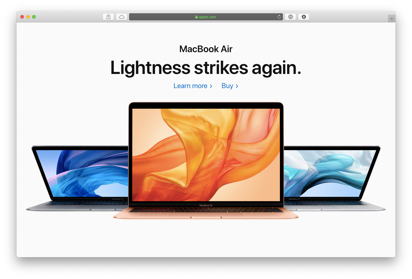 Apple MacBook air new 2019