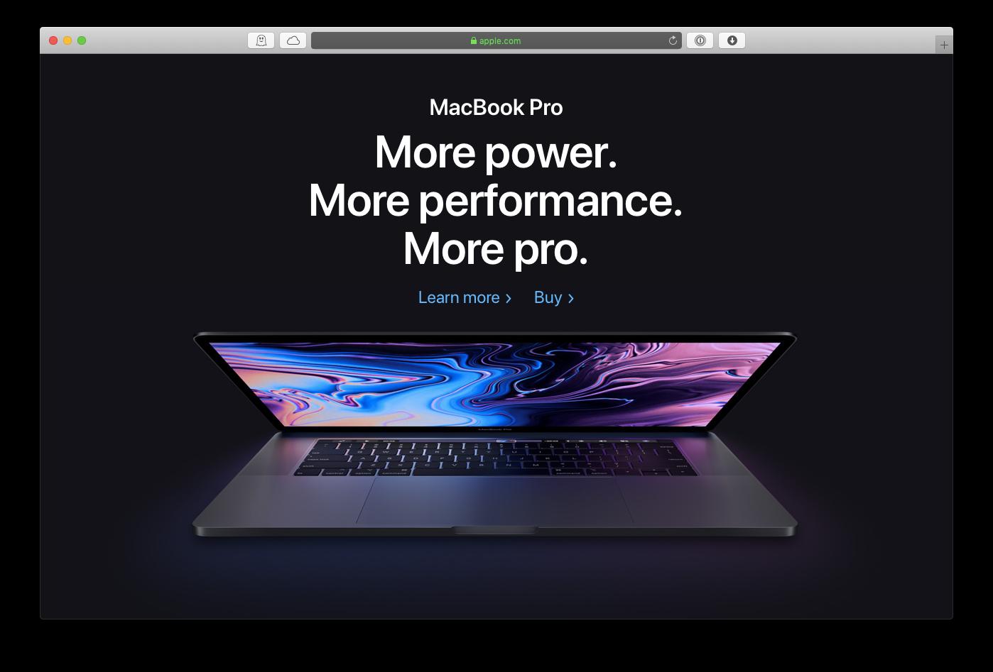 Apple MacBook pro model 2019