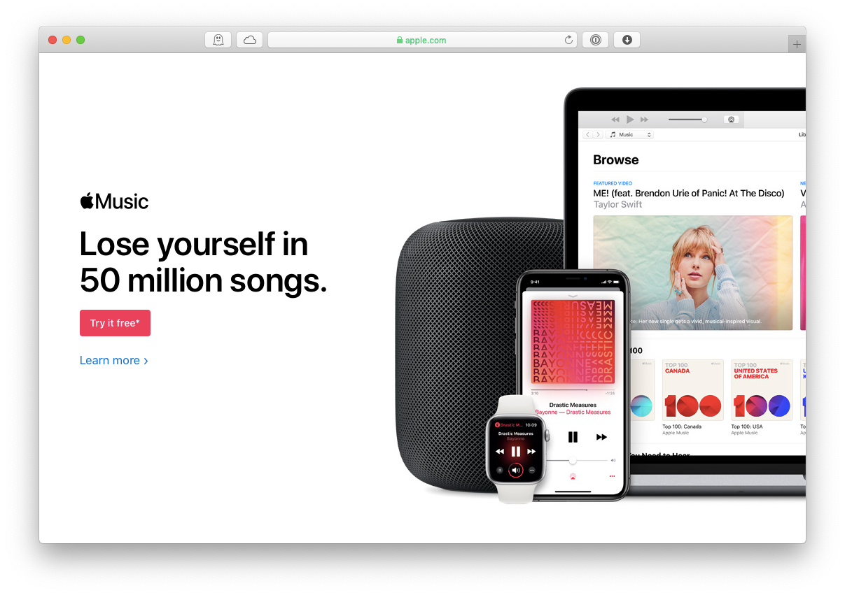 Apple Music streaming app