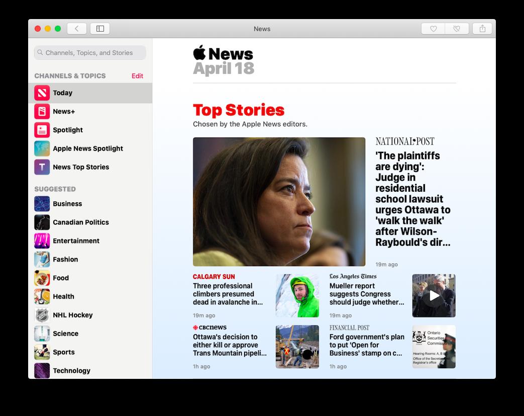 Top Stories in Apple News