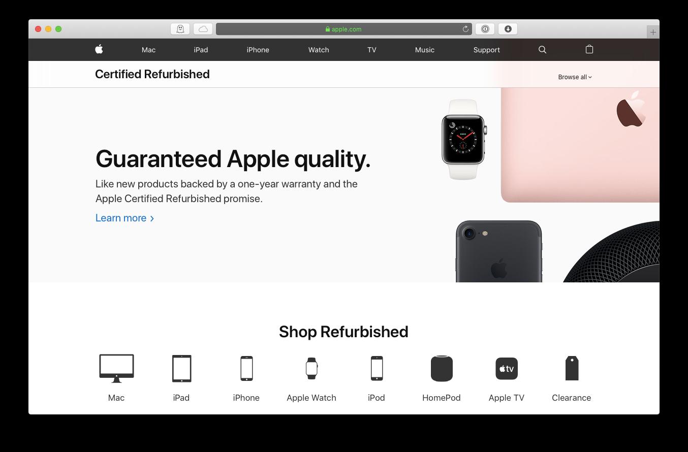 Apple refurbished store certified Mac