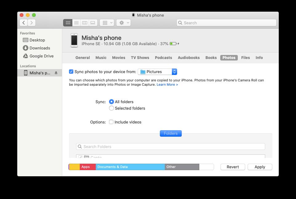 Apple sync device Mac iPhone
