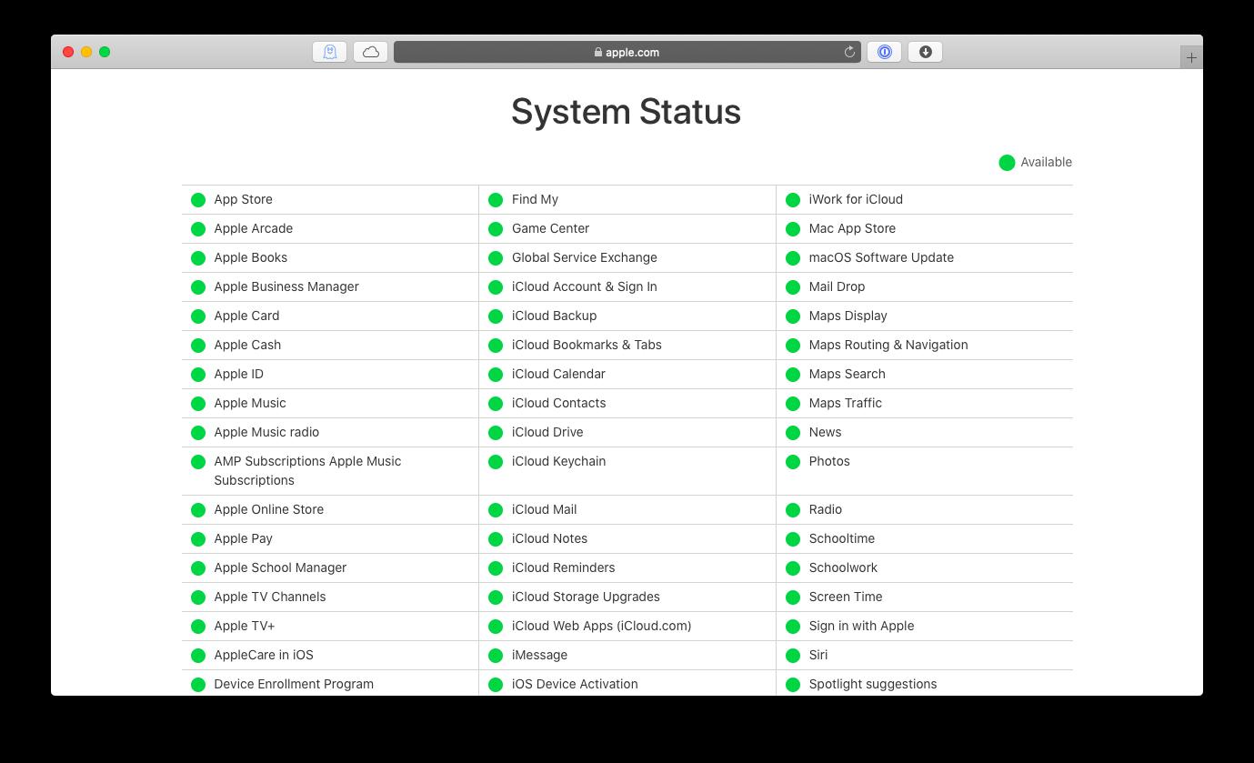 Apple servers