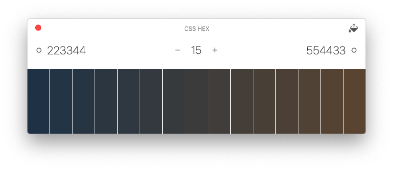Gradations of color