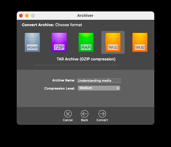 create an tar.gz on Mac