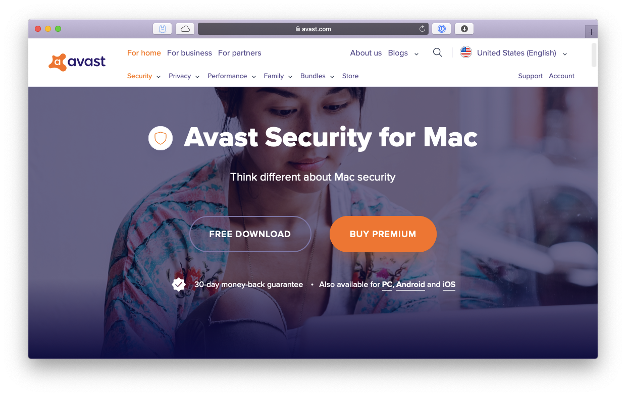 Avast free antivuris Mac protection